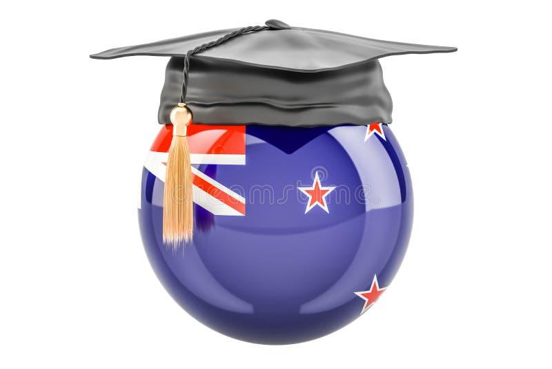 教育和研究在新西兰概念, 3D翻译 向量例证