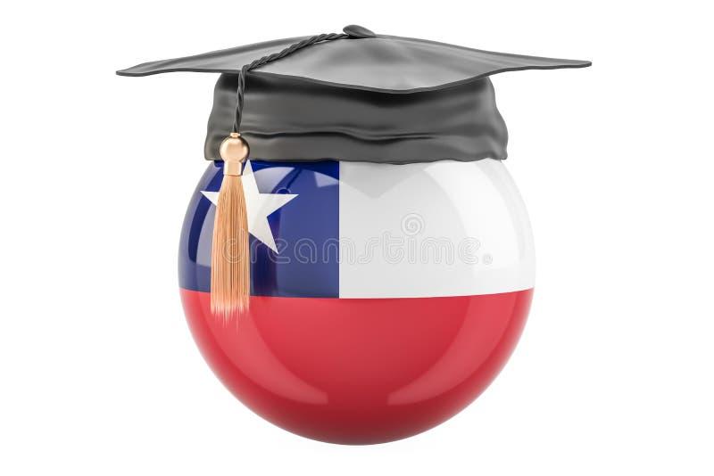 教育和研究在智利概念, 3D翻译 库存例证