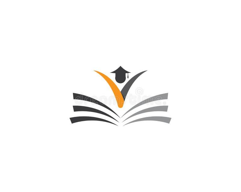 教育商标模板 皇族释放例证