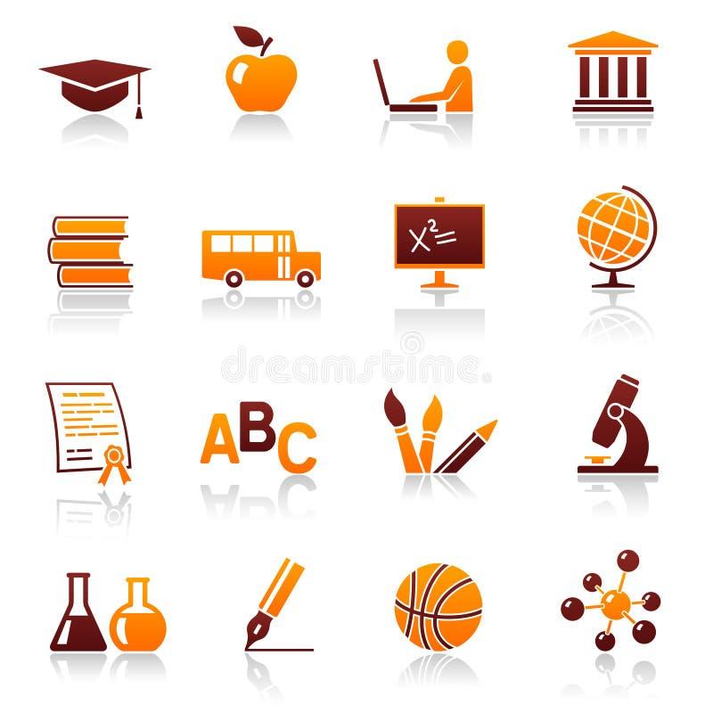 教育图标学校 库存例证