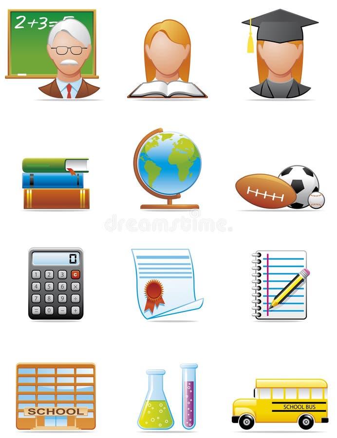 教育图标 库存例证