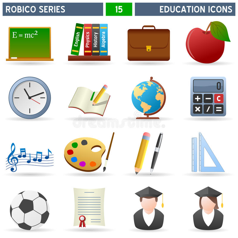 教育图标robico系列 皇族释放例证
