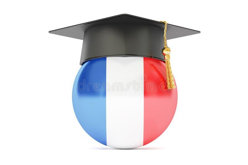 教育在法国,概念, 3D翻译 库存例证