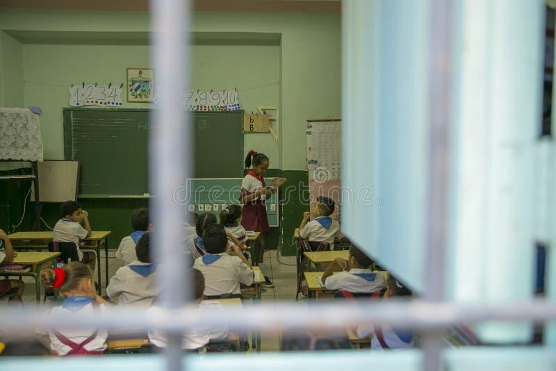 教育在特立尼达,古巴 免版税库存图片