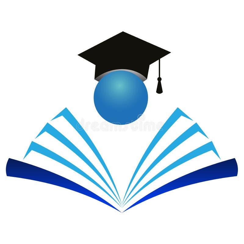 教育徽标 库存例证