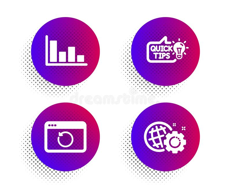 教育想法、补救互联网和直方图象集合 Seo齿轮标志 ?? 向量例证