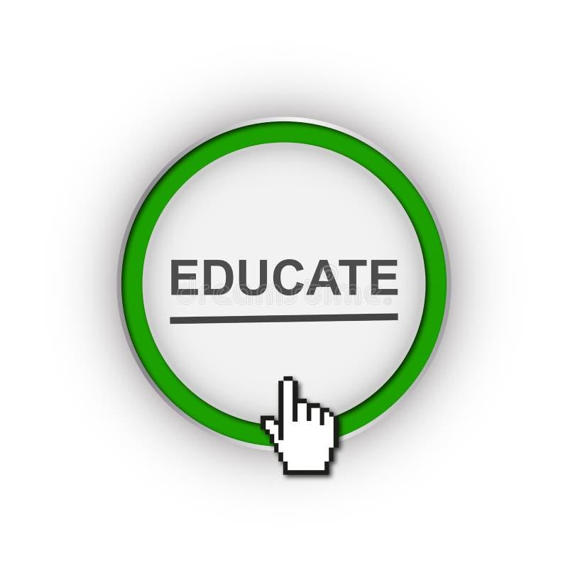 教育按钮 向量例证