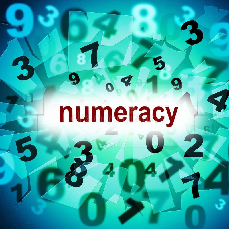 教育数理知识的教育意味一两三和 库存例证
