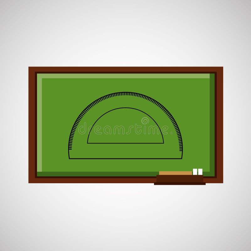 教育有分度器的概念黑板 库存例证