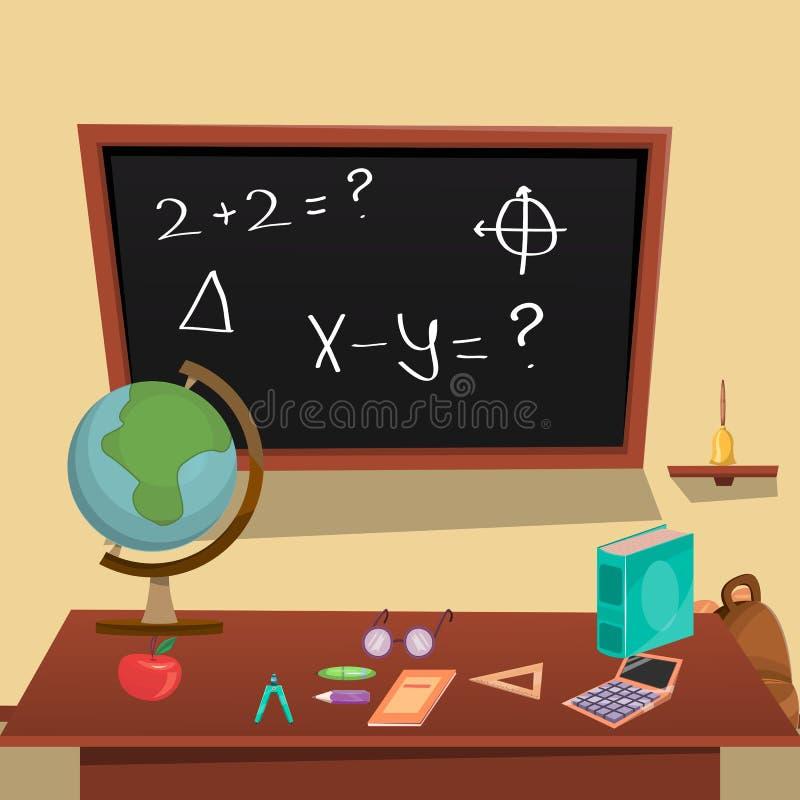 教育概念海报 向量例证
