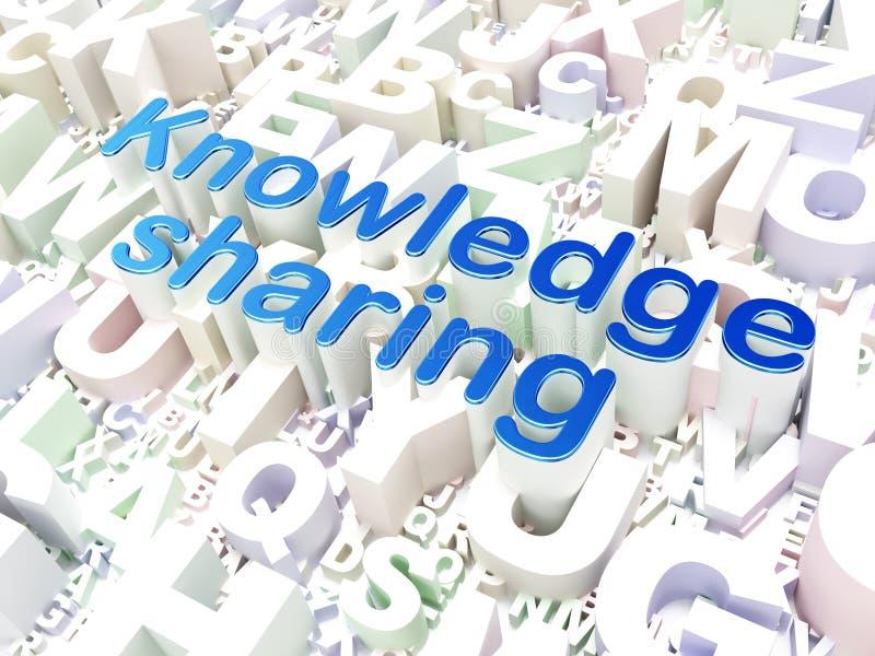 教育概念:分享在字母表的知识 皇族释放例证