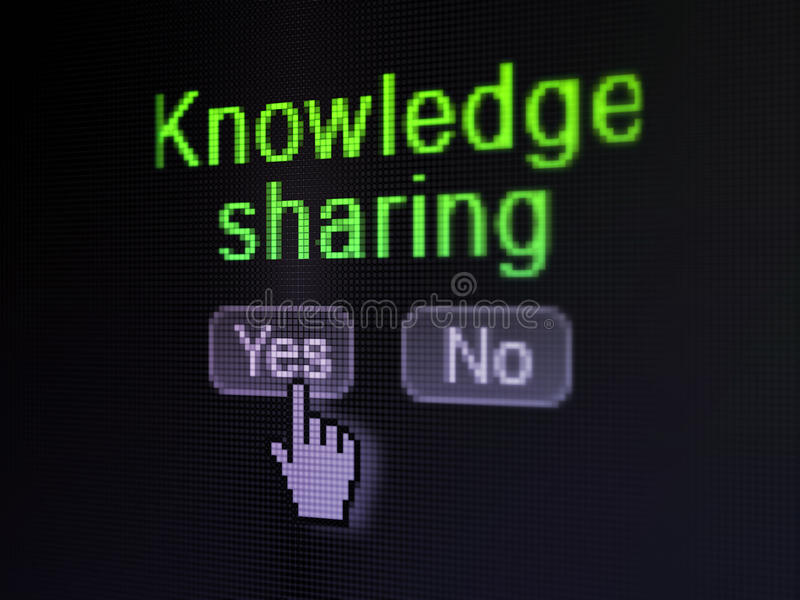 教育概念:分享在数字式的知识 向量例证