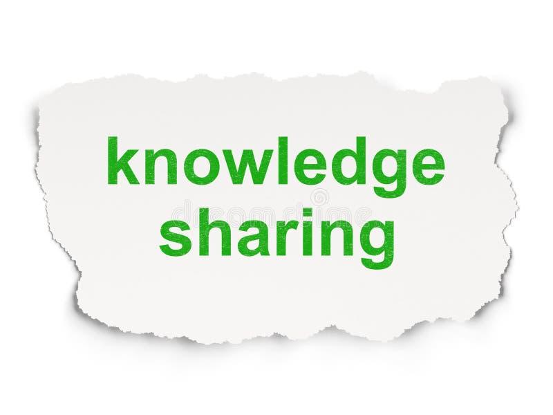 教育概念:分享在纸背景的知识 库存图片