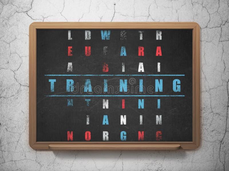 教育概念:在解决的词训练 库存照片