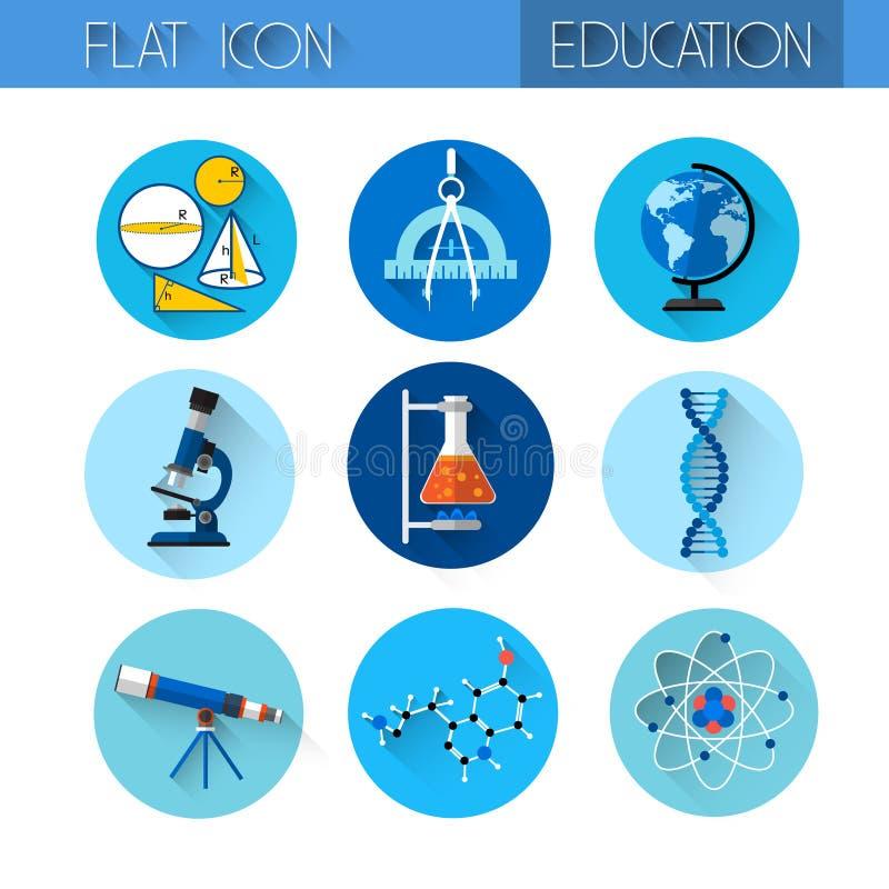 教育汇集五颜六色的象集合 库存例证