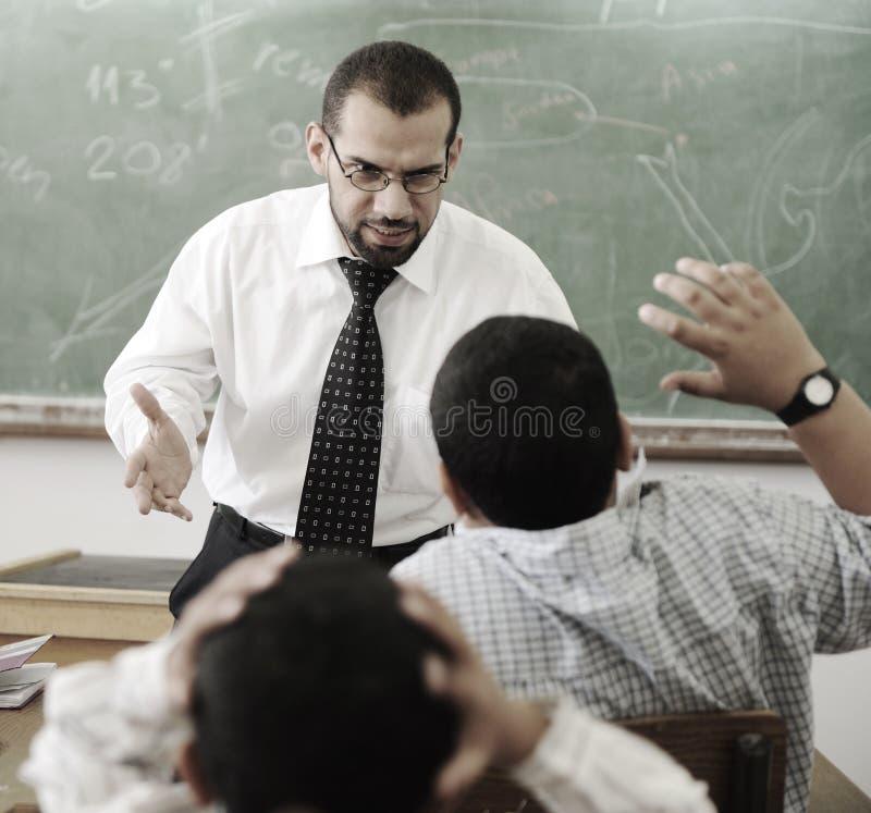 教育活动在教室 免版税库存图片