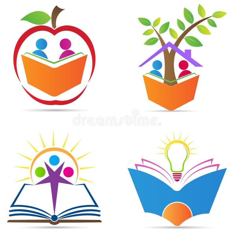 教育的商标 库存例证