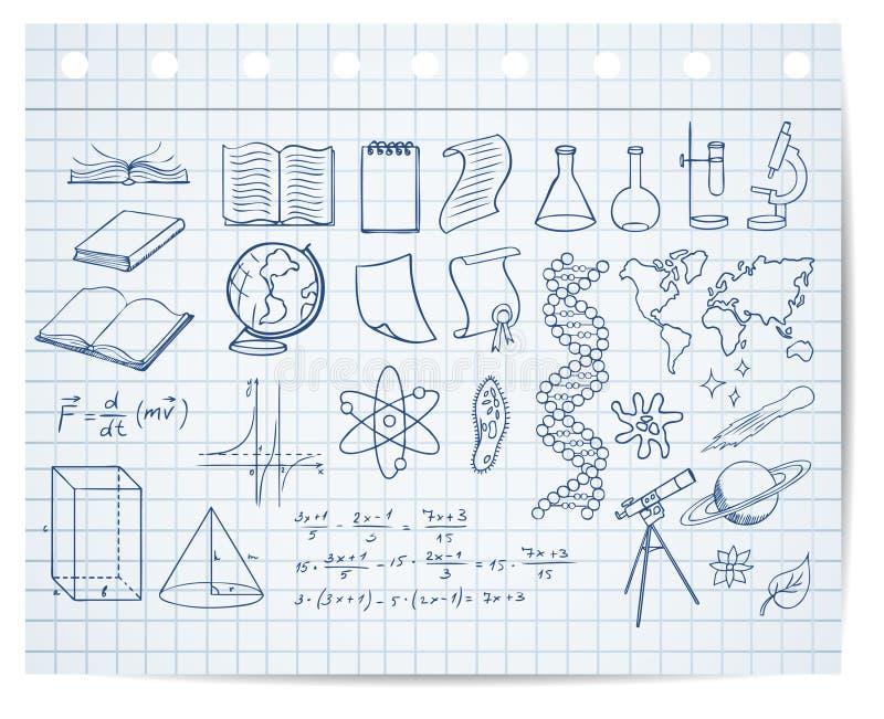 教育科学符号 向量例证