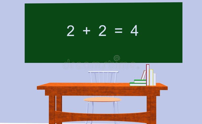 教育算术 库存图片