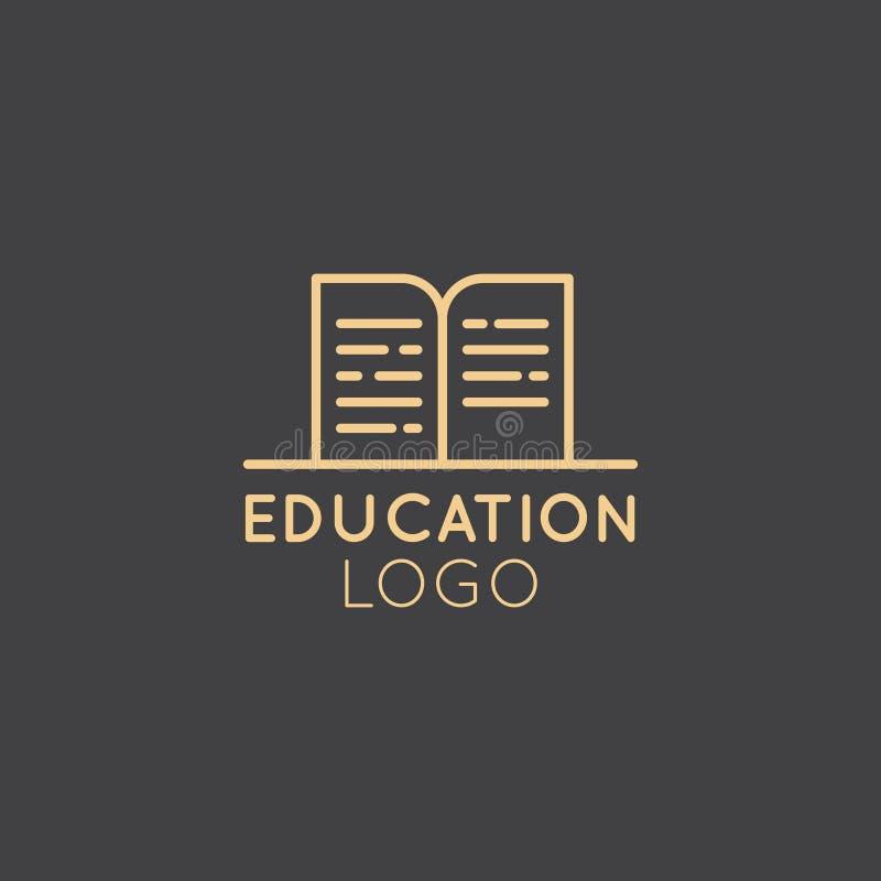 教育计划、大学或私立学校类、研讨会或者车间的商标 向量例证