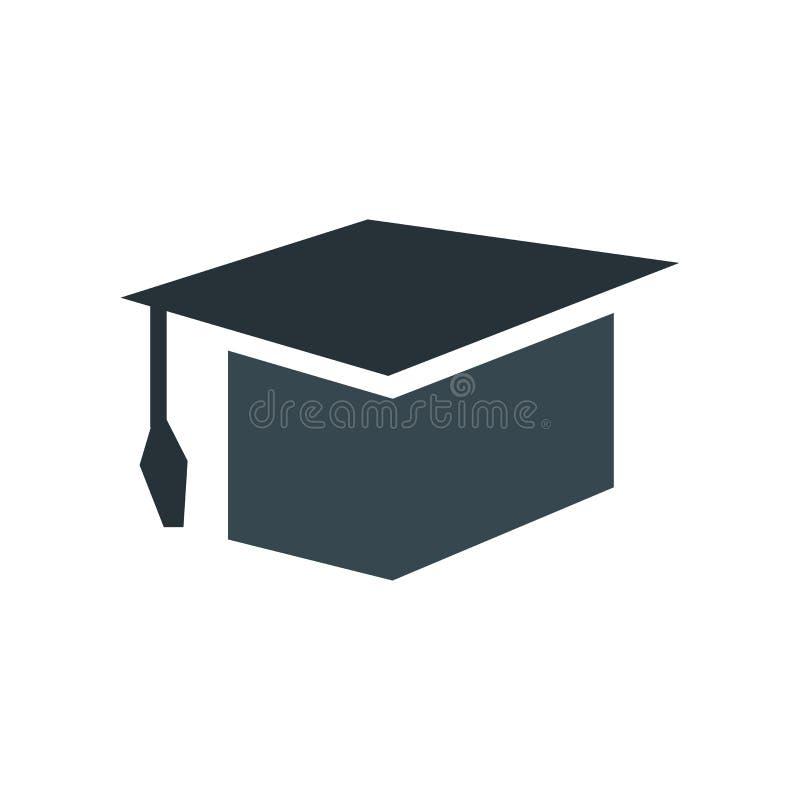 教育象在白色背景和标志隔绝的传染媒介标志,教育商标概念 皇族释放例证