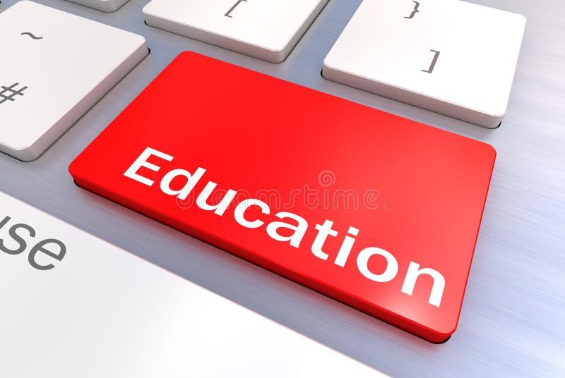 教育键盘概念 免版税库存照片