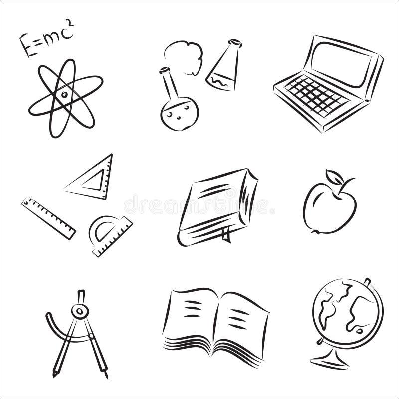 教育集合草图向量 皇族释放例证