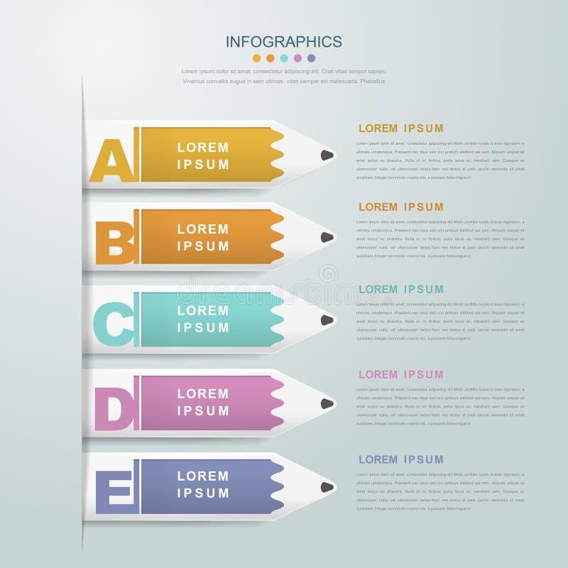 教育infographic模板设计 向量例证
