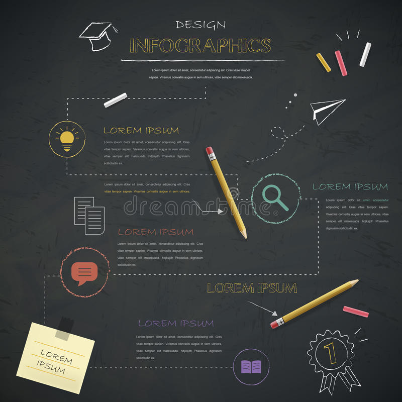 教育infographic模板设计 库存例证