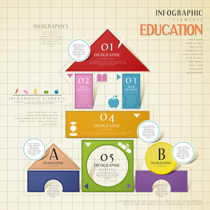 教育Infographic模板 皇族释放例证