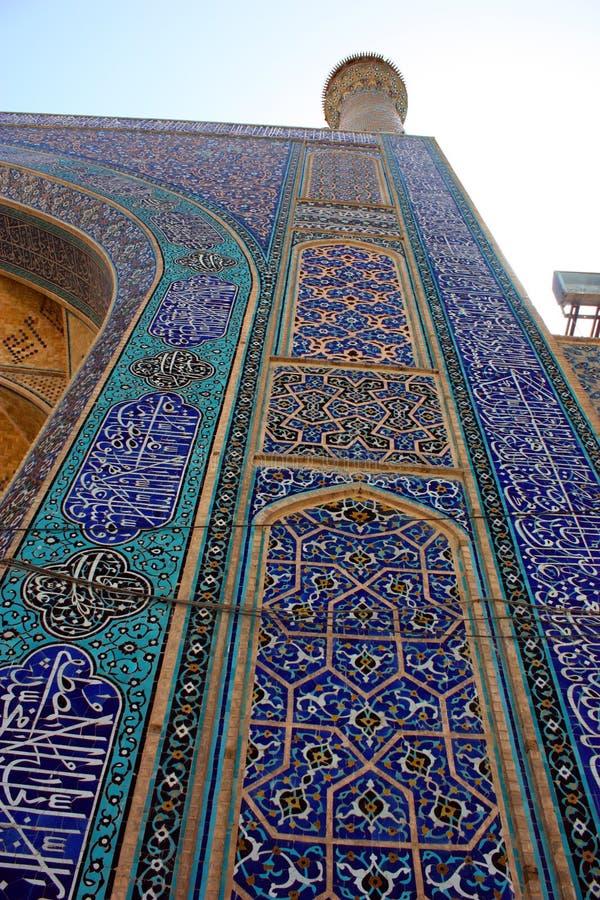 教长伊朗伊斯法罕清真寺 图库摄影