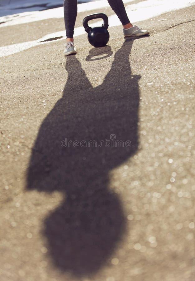 教练员的阴影 免版税库存图片