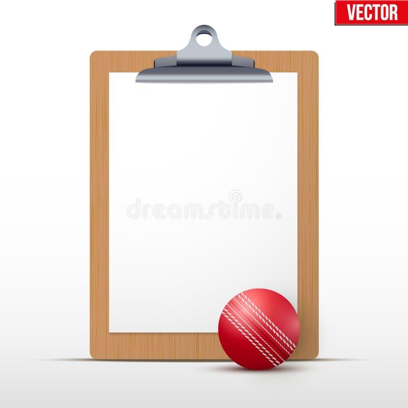 教练空白的剪贴板 库存例证