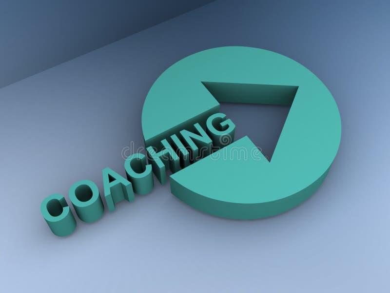 教练 向量例证