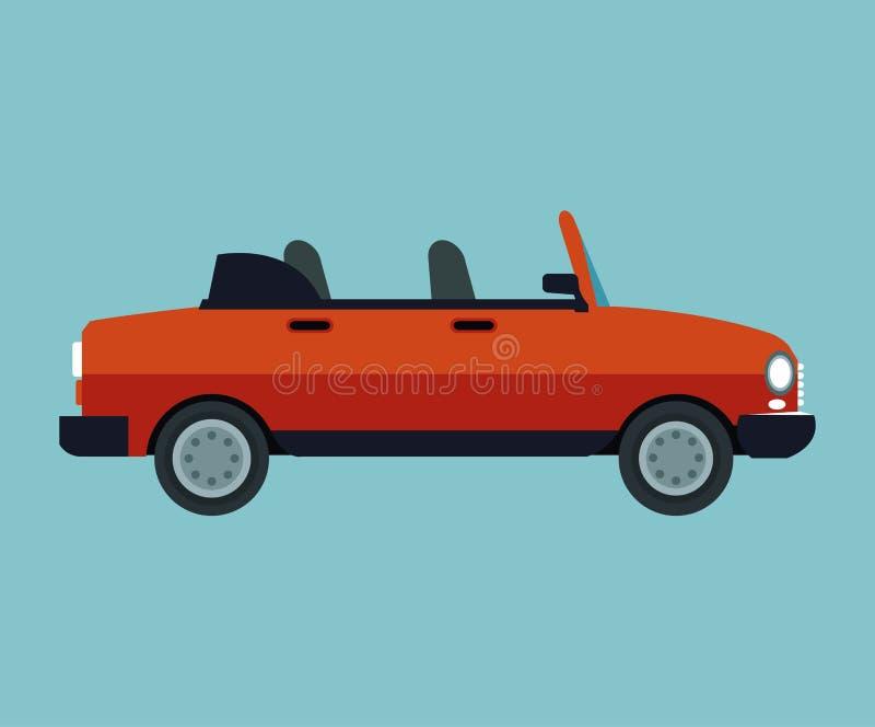 敞篷车汽车体育车 向量例证