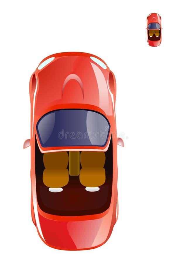 敞蓬车汽车图标 库存例证