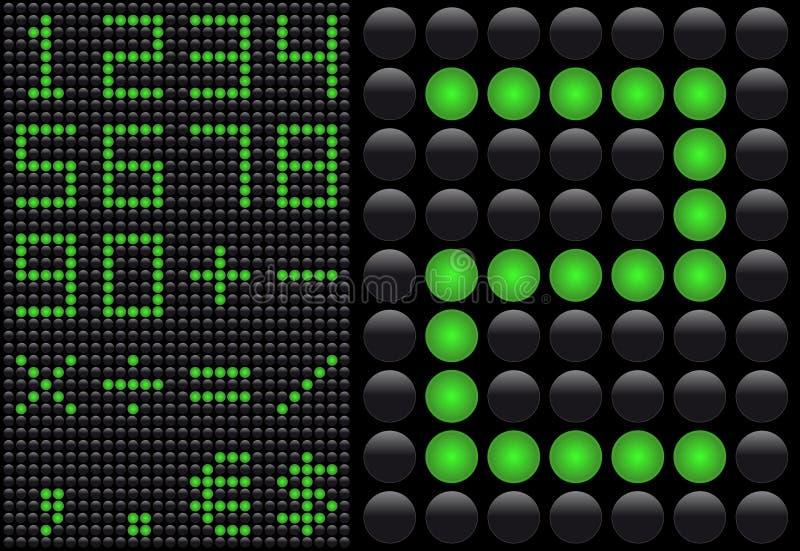 散发信息轻的面板的二极管 向量例证