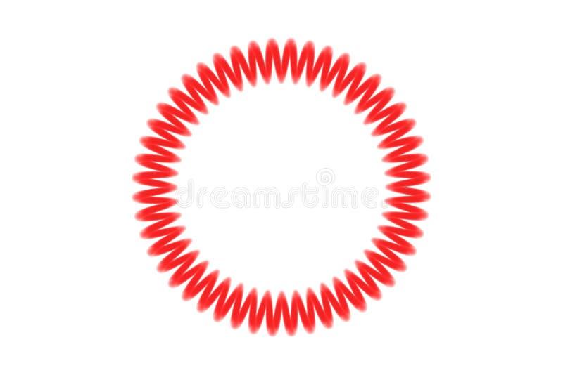 散发光的螺旋圆环 向量例证