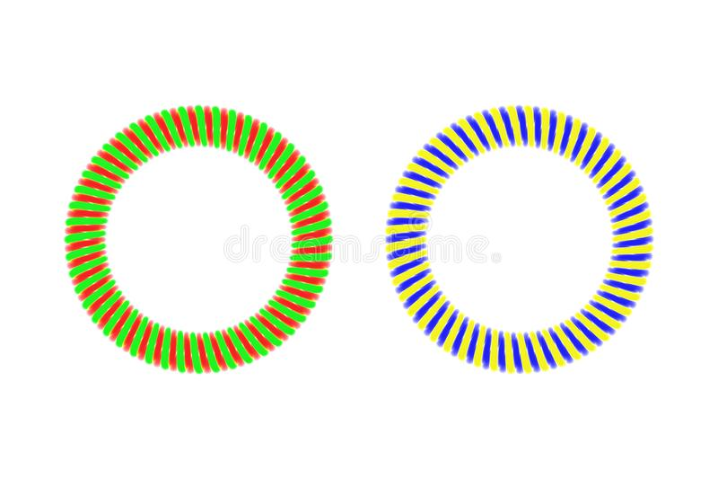 散发光的螺旋圆环 皇族释放例证