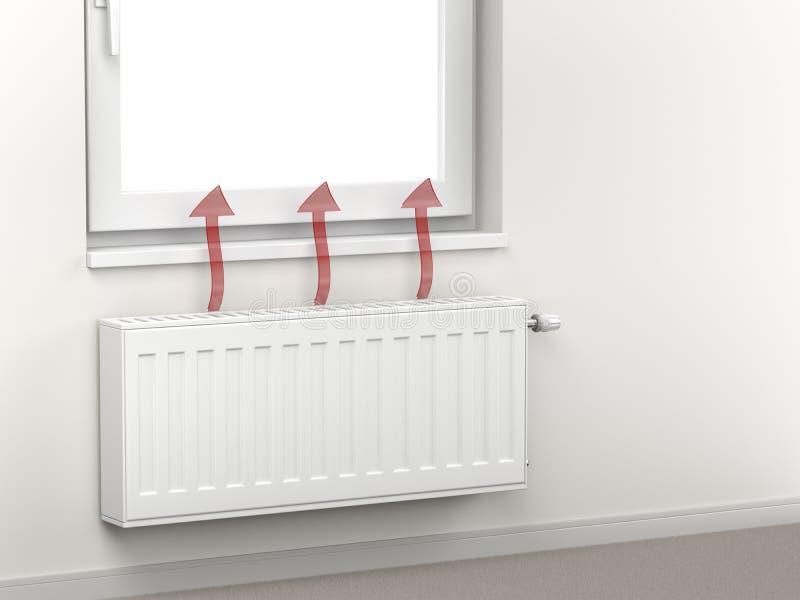 散发热空气的加热的幅射器 向量例证