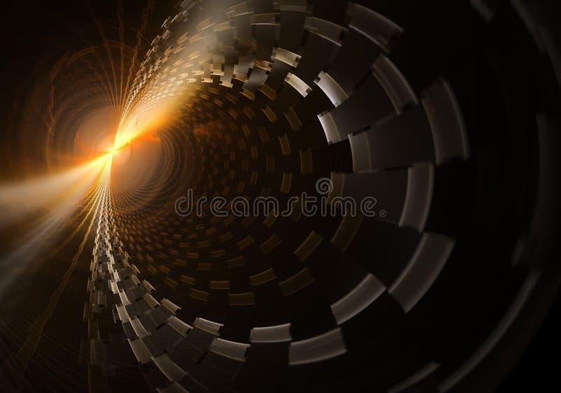 散发等离子云彩的能量球形 库存例证