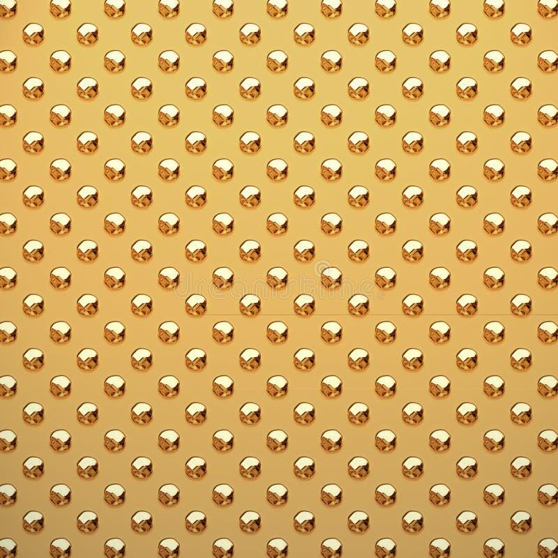 散布的金子金属片 皇族释放例证