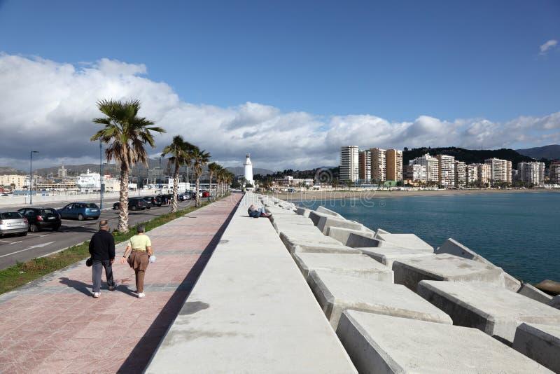 散步在马拉加,西班牙 免版税库存图片