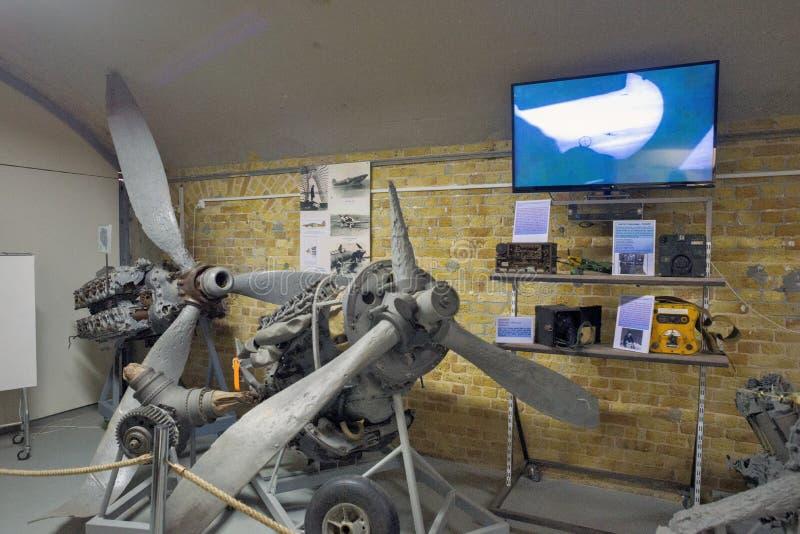 敦刻尔克博物馆1940陈列敦刻尔克战役 免版税图库摄影