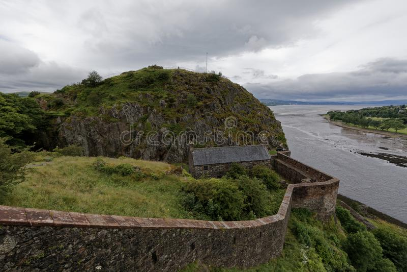 敦巴顿橡树园城堡,苏格兰 库存照片