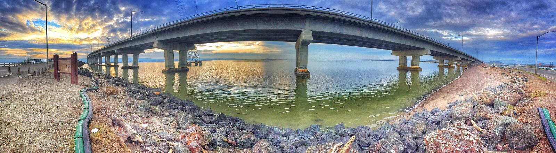 敦巴顿橡树园桥梁 免版税库存照片