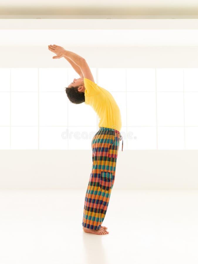 致敬瑜伽姿势 免版税图库摄影