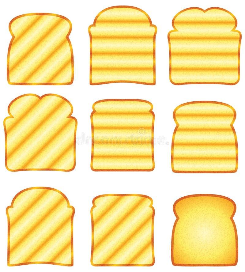 敬酒的面包片式 库存例证