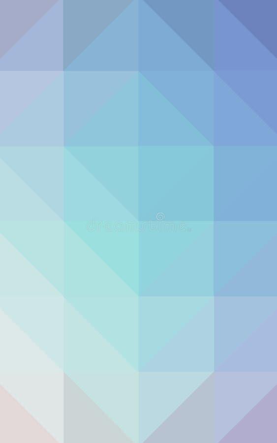 数位引起的垂直的蓝色gree白色和红色三角多角形背景的抽象例证 皇族释放例证
