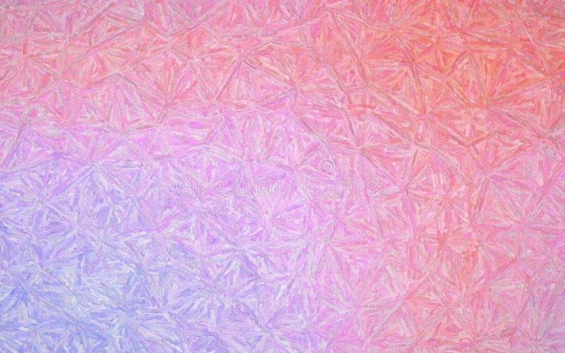 数位引起的桃红色和浅紫色的印象主义Impasto背景的抽象例证 皇族释放例证